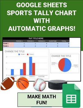Sports Tally Chart with Automatic Graphs (Editable in Google Sheets) - Roombop