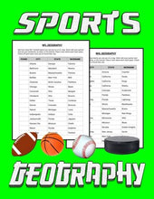 Load image into Gallery viewer, Sports Geography: Football, Basketball, Baseball, Hockey - Roombop