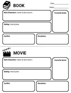 Book vs Movie Graphic Organizers (Editable in Google Slides) - Roombop