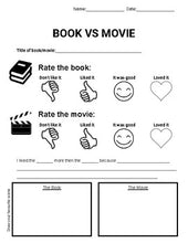 Load image into Gallery viewer, Book vs Movie Graphic Organizers (Editable in Google Slides) - Roombop