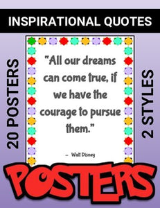 Inspirational Quotes: Printable Posters - Roombop