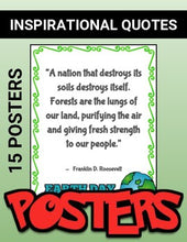 Load image into Gallery viewer, Earth Day: Famous People's Quotes - Printable Posters - Roombop