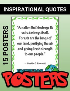 Earth Day: Famous People's Quotes - Printable Posters - Roombop