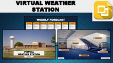 Load image into Gallery viewer, Virtual Weather Station Tour (Editable in Google Slides) Distance Learning - Roombop
