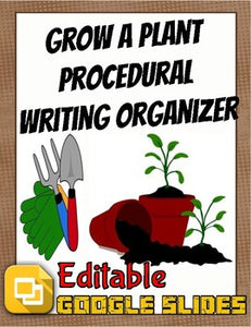 How to Grow a Plant: Procedural Writing Organizers (Editable in Google Slides) - Roombop