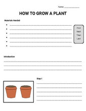 Load image into Gallery viewer, How to Grow a Plant: Procedural Writing Organizers (Editable in Google Slides) - Roombop