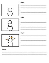 Load image into Gallery viewer, How to Build a Snowman: Procedural Writing Organizers (Editable in Google Slides) - Roombop