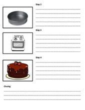 Load image into Gallery viewer, How to Bake a Cake: Procedural Writing Organizers (Editable in Google Slides) - Roombop
