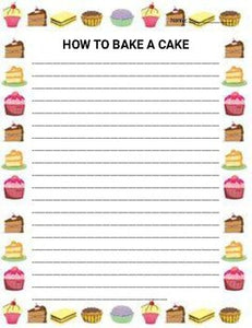 How to Bake a Cake: Procedural Writing Organizers (Editable in Google Slides) - Roombop
