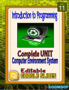 Computer Environment and Systems Mini Unit - Intro To Programming - Roombop