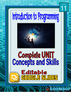 Programming Concepts and Skills Full Unit - Intro To Programming - Roombop