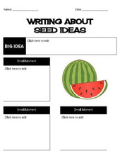 Load image into Gallery viewer, Seed Ideas Organizers Digital & Printables (Editable in Google Slides) - Roombop