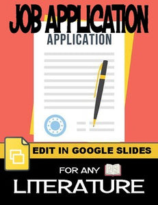 Job Application Characterization - For Any Literature (Editable in Google Slides) - Roombop