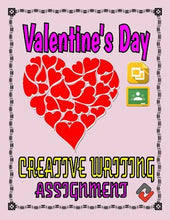 Load image into Gallery viewer, Valentine's Day Creative Writing Assignment (Editable Google Slides) - Roombop