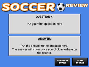 Soccer: Interactive Review Game (Editable on Google Slides) - Roombop