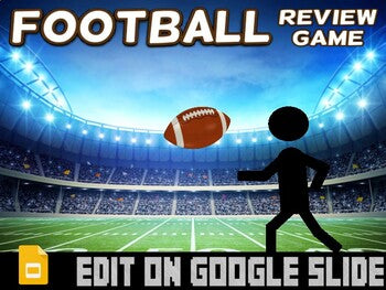 Football: Interactive Review Game (Editable on Google Slides) - Roombop