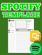 Load image into Gallery viewer, Spotify Song Album Template (Editable on Google Slides) - Roombop