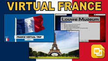 Load image into Gallery viewer, France Virtual Field Trip (Editable in Google Slides) - Roombop