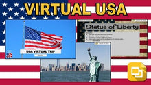 Load image into Gallery viewer, USA Virtual Country Trip (Editable in Google Slides) - Roombop