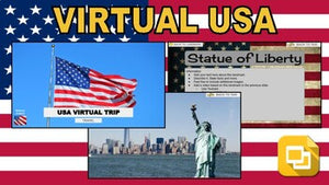 USA Virtual Country Trip (Editable in Google Slides) - Roombop