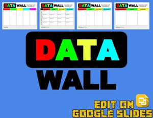 Digital Data Wall (Editable in Google Slides) - Roombop