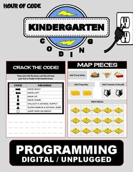 Thanksgiving November | Kindergarten Unplugged / Digital Coding - Roombop