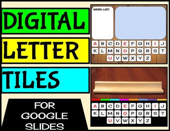 Digital Letter Tiles For Google Slides | Kindergarten Distance Learning - Roombop
