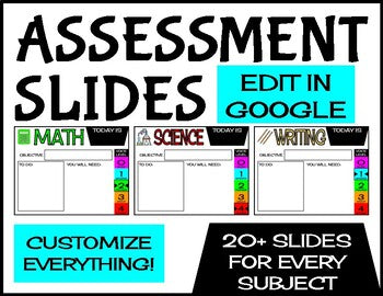 Assignment Slides | Edit in Google Slides | Distance Learning Slides - Roombop