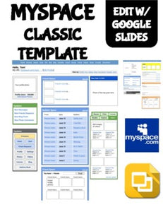 Myspace Classic Template (Editable on Google Slides) - Roombop