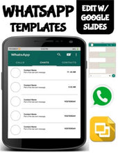Load image into Gallery viewer, WhatsApp Template (Editable on Google Slides) - Roombop
