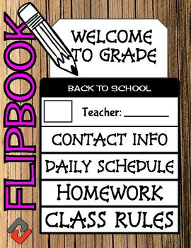 Back To School - Meet The Teacher Flipbook