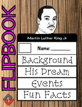 Load image into Gallery viewer, Martin Luther King Jr Flipbook