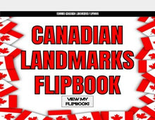 Load image into Gallery viewer, Famous Canadian Landmarks Digital Flipbook