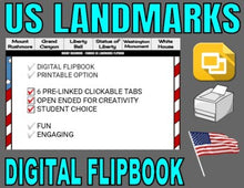 Load image into Gallery viewer, Famous USA Landmarks Digital Flipbook