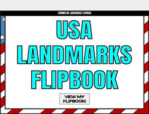 Famous USA Landmarks Digital Flipbook