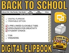 Load image into Gallery viewer, Back To School Digital Flipbook - Google Slides