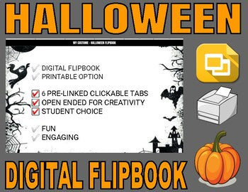 Halloween Digital Flipbook - Google Slides