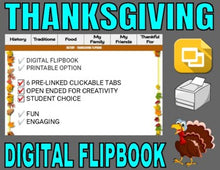 Load image into Gallery viewer, Thanksgiving Digital Flipbook - Google Slides