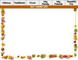 Thanksgiving Digital Flipbook - Google Slides
