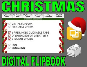 Christmas Digital Flipbook - Google Slides