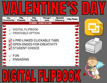 Load image into Gallery viewer, Valentine's Day Digital Flipbook - Google Slides