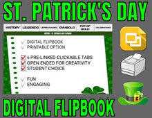 Load image into Gallery viewer, St. Patrick's Day Digital Flipbook - Google Slides