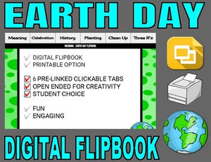 Earth Day Digital Flipbook - Google Slides