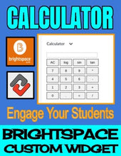 Load image into Gallery viewer, Calculator - Brightspace Custom Widget