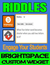 Load image into Gallery viewer, Riddles - Brightspace Custom Widget