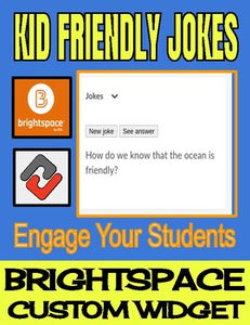 Kid Friendly Jokes - Brightspace Custom Widget