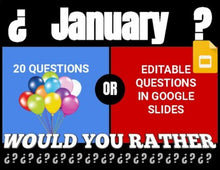 Load image into Gallery viewer, January Digital & Printable Would You Rather (Google Slides)