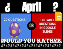 Load image into Gallery viewer, April Digital & Printable Would You Rather (Google Slides)