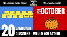 Load image into Gallery viewer, October Would You Rather JamBoard