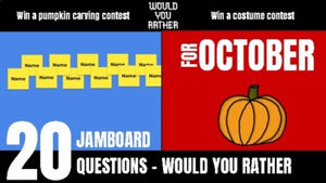 October Would You Rather JamBoard